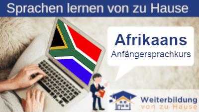 Afrikaans Anfängersprachkurs lernen von zu Hause Header
