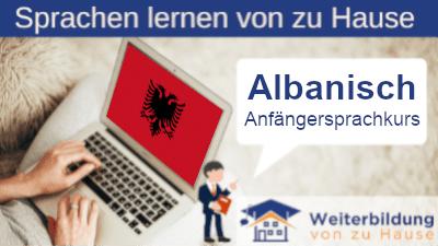 Albanisch Anfängersprachkurs lernen von zu Hause Header