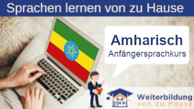 Amharisch Anfängersprachkurs lernen von zu Hause Header
