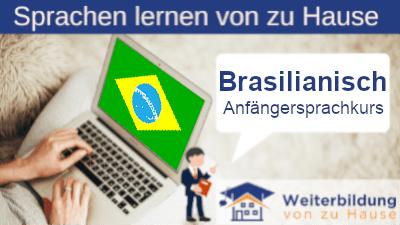 Brasilianisch Anfängersprachkurs lernen von zu Hause Header