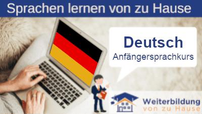 Deutsch Anfängersprachkurs lernen von zu Hause Header