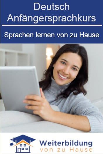 Deutsch Anfängersprachkurs lernen von zu Hause Pinterest