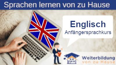 Englisch Anfängersprachkurs lernen von zu Hause Header