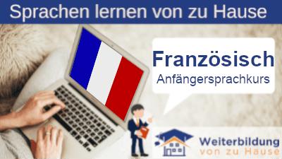 Französisch Anfängersprachkurs lernen von zu Hause Header