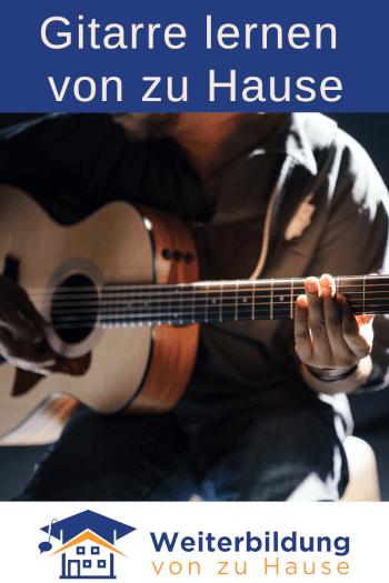 Gitarre lernen von zu Hause Pinterest