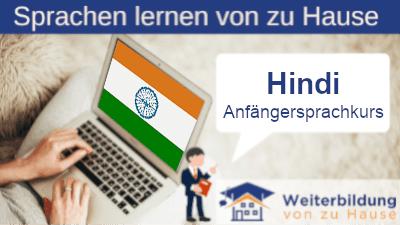 Hindi Anfängersprachkurs lernen von zu Hause Header