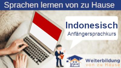 Indonesisch Anfängersprachkurs lernen von zu Hause Header