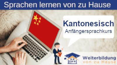 Kantonesisch Anfängersprachkurs lernen von zu Hause Header