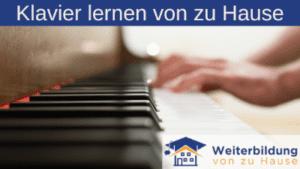 Klavier spielen lernen von zu Hause