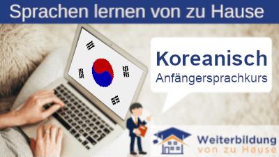 Koreanisch Anfängersprachkurs lernen von zu Hause Header
