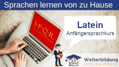 Latein Anfängersprachkurs lernen von zu Hause Header