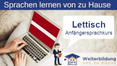 Lettisch Anfängersprachkurs lernen von zu Hause Header