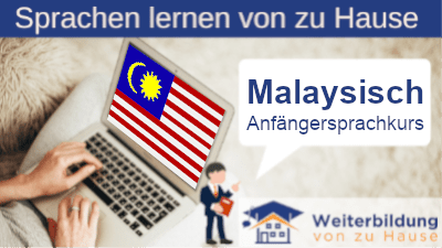 Malaysisch Anfängersprachkurs lernen von zu Hause Header