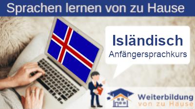 Isländisch Anfängersprachkurs lernen von zu Hause Header
