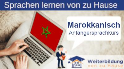 Marokkanisch Anfängersprachkurs lernen von zu Hause Header
