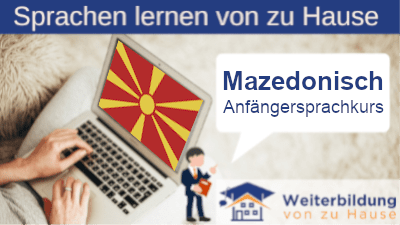 Mazedonisch Anfängersprachkurs lernen von zu Hause Header