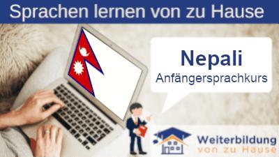 Nepali Anfängersprachkurs lernen von zu Hause Header