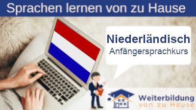 Niederländisch Anfängersprachkurs lernen von zu Hause Header
