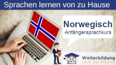 Norwegisch Anfängersprachkurs lernen von zu Hause Header
