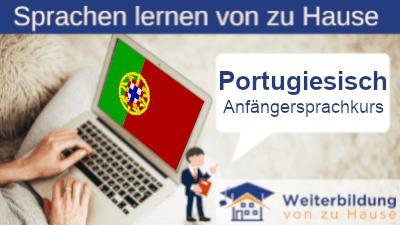 Portugiesisch Anfängersprachkurs lernen von zu Hause Header