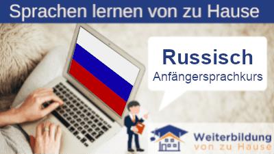 Russisch Anfängersprachkurs lernen von zu Hause Header