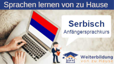Serbisch Anfängersprachkurs lernen von zu Hause Header