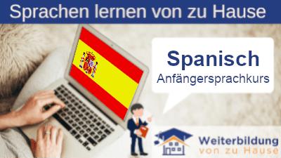 Spanisch Anfängersprachkurs lernen von zu Hause Header