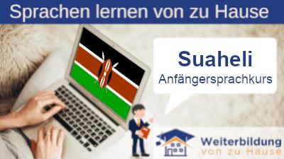 Suaheli Anfängersprachkurs lernen von zu Hause Header