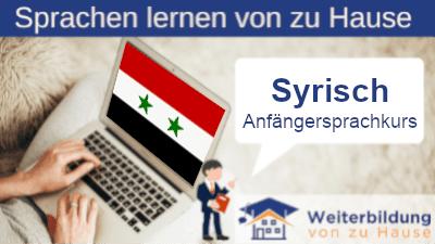 Syrisch Anfängersprachkurs lernen von zu Hause Header