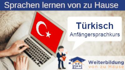 Türkisch Anfängersprachkurs lernen von zu Hause Header