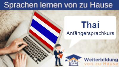 Thai Anfängersprachkurs lernen von zu Hause Header
