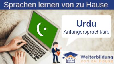 Urdu Anfängersprachkurs lernen von zu Hause Header