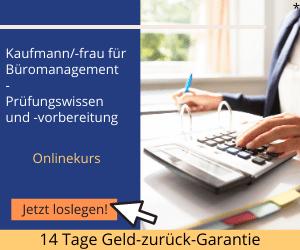 Kauffrau und Kaufmann für Büromanagement Prüfungsvorbereitung